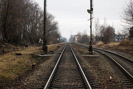 Train Tracks, Rails, Railway, Station, Munich, Müldorf