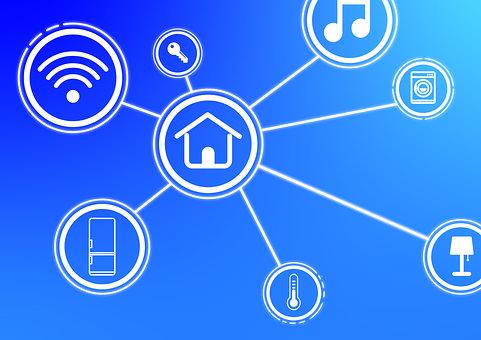 Smart Home, House, Symbol, Network, Intelligent, Key