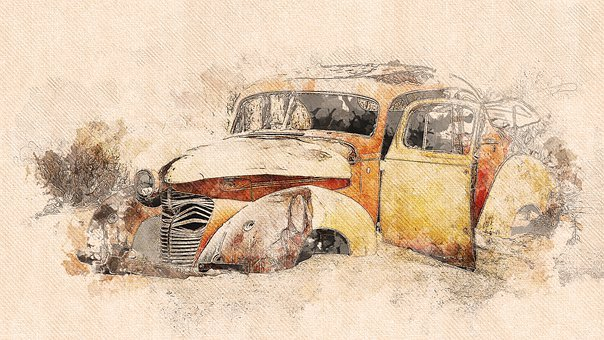 Vehicle, Auto, Rusted, Abandoned, Solitaire, Oldtimer