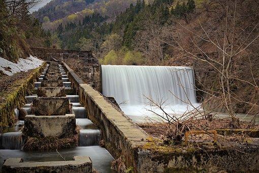 Waterfall, River, Forest, Cascades, Falls, Stream