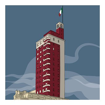 Skyscraper, Flag, Turin, Torre Littoria
