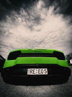 Car, Rear, Lamborghini, Auto, Sports Car, Automotive