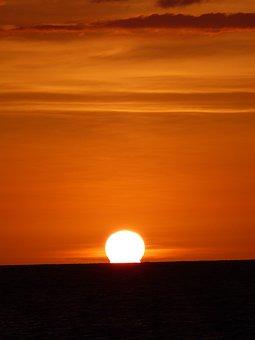 Sunset, Sea, Ocean, Dusk, Twilight, Sun, Setting Sun