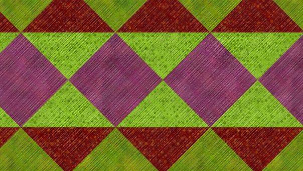 Background, Abstract, Geometric, Pattern, Rhombus