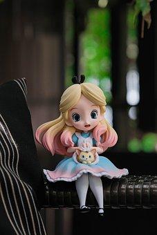 Alice In Wonderland, Toy, Miniature, Alice, Figure