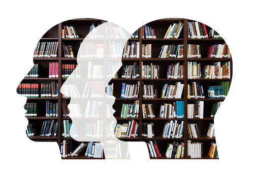 Heads, Books, Knowledge, Reading, Symbol, Library