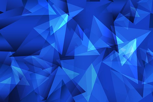 Blue, Triangles, Polygons, Geometric, Shapes, Geometry