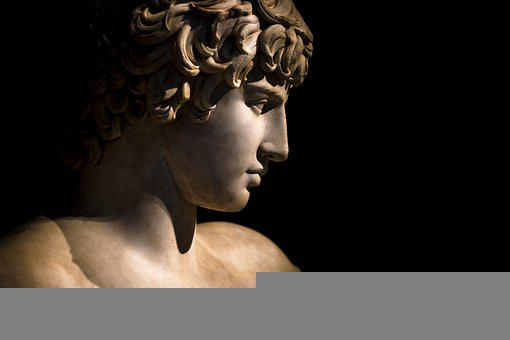 Head, Marble, Greek, Young, Busted, Classical, Chest