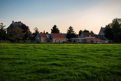Houses, Grass, Neighborhood, Homes, Residential Area