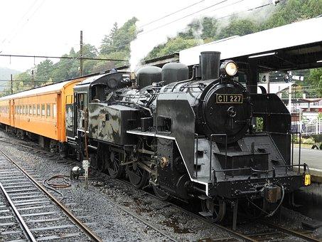 Steam Locomotive, ōigawa Railway, Train, Platform