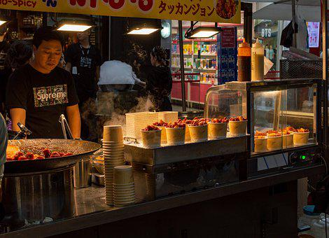 Myeongdong, Street Food, Seoul, Area, Tourist, Tourism