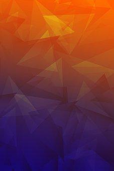 Triangles, Polygons, Geometric, Shapes, Geometry, Blue