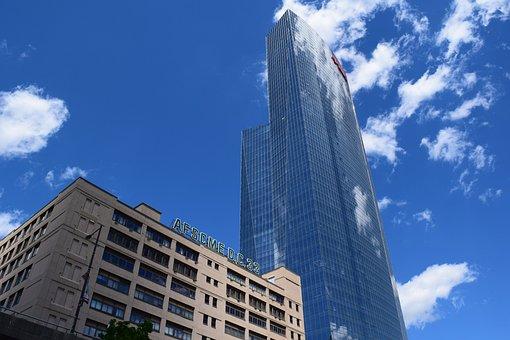 Sky, Building, Skyscraper, Architecture, Glass Windows