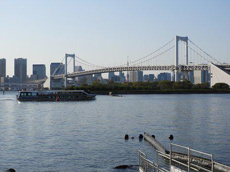 Tokyo, Odaiba, Rainbow Bridge, Tourist Boat, River Boat