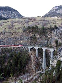 Viaduct, Railway, Mountain, Train, Railroad, Travel