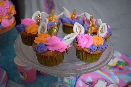 Cupcakes, Unicorn, Food, Sweets, Desserts