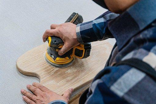 Wood Work, Carpenter, Sanding Machine, Polishing