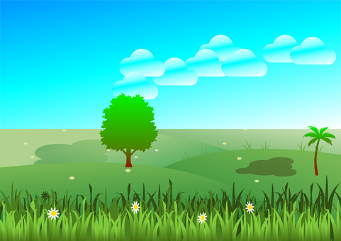 High Place, Nature, Plant, Green, Outside, Sky, Clouds