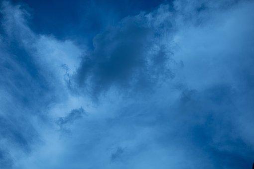 Sky, Clouds, Weather, Cumulus, Atmosphere, Night