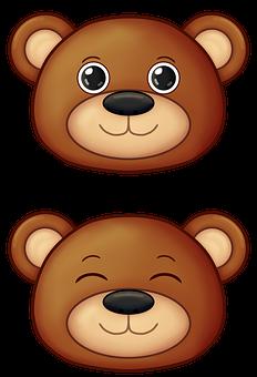 Bear, Kawaii, Cute, Brown Bear, Happy, Animal, Teddy