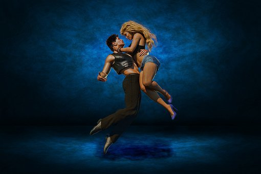 Couple, Dancing, Jump, Dancers, Dance, Performance