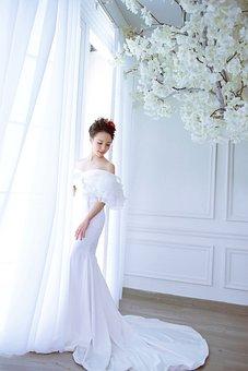 Bride, Wedding Dress, Fashion, Dress, White Dress