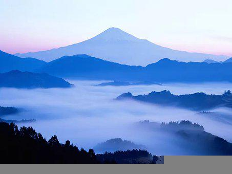Mountains, Fog, Blue, Mountain Ranges, Mountainous