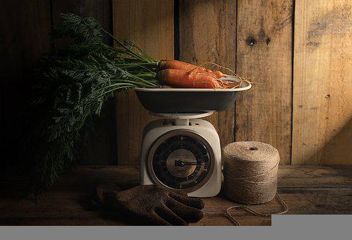 Carrots, Still Life, Scale, Weighing Scale, Gardening