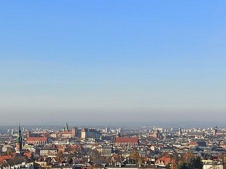 Kraków, City, Panorama, Church, Sky, Buildings, View