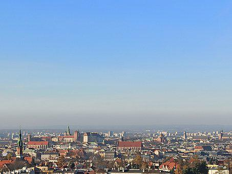 Kraków, City, Panorama, Church, Sky, Buildings, View