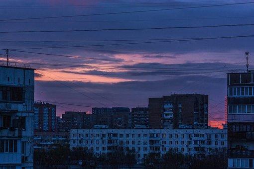 Sunset, Pink, Sky, Landscape, Nature, Twilight, Clouds