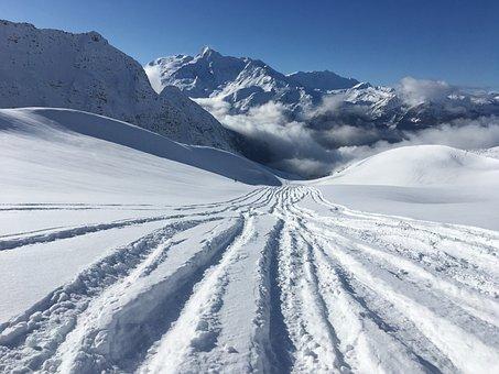 Snow, Mountains, Skiing, Mountain, Landscape, Winter