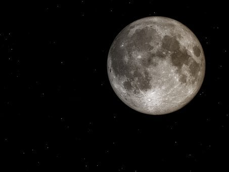 Full Moon, Night Sky, Moon, Night, Universe, Astronomy
