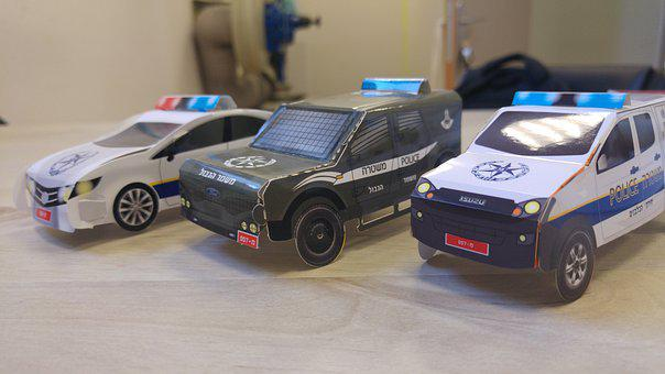 Police Cars, Cars, Paper Toy, Police, Vehicles, Auto