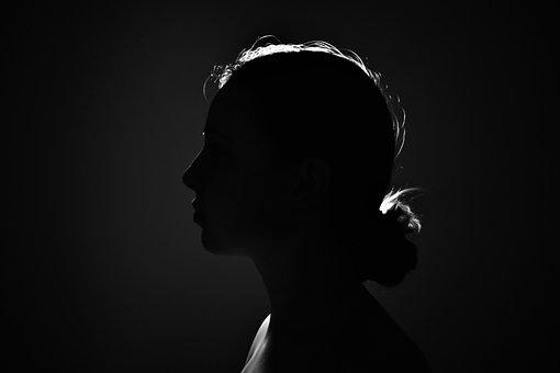 Black, White, Po, Woman, Girl, Monochrome, Portrait
