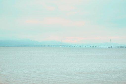 Shenzhen, Shenzhen Bay, Cross-sea Bridge, The Sea, Sky