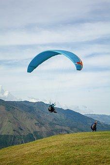 Sport, Paragliding, Parachute, Sky, Adventure