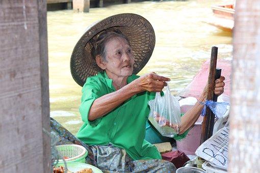 Thailand, Marketer, Bangkok, Market, Thai, Food