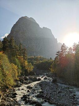 The Caucasus, Mountain, Landscape, Nature