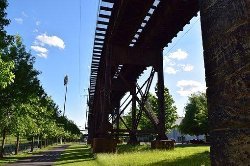 Rails, Train, Tracks, Station, Railway, Platform, Steel