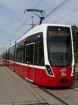 Tram, Vienna, Tram Tracks, Traffic, Travel, Transport