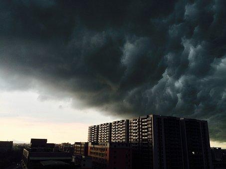 Clouds, Building, Skyline, Rain, Weather, Rainy Weather