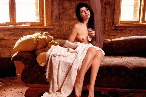 Woman, Erotic, Couch, Beautiful, Seductive, Sensual