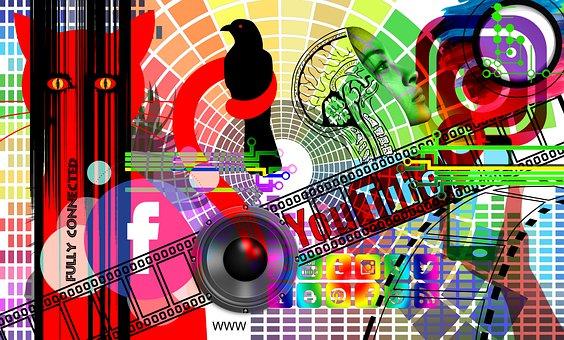 Social Media, Interaction, Woman, Abstract, Mess, Chaos