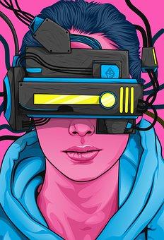 Vr Box, Steampunk, Woman, Girl, Cyborg, Modern