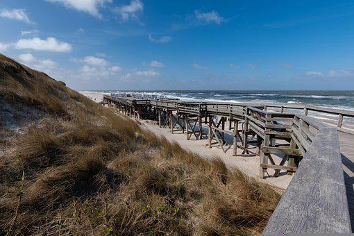 Sylt, Sea, North Sea, Beach, Water, Vacations, Coast