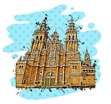 Santiago De Compostela, Spain, Cathedral, Church