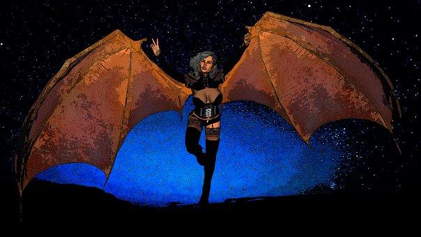 Woman, Demon, Fantasy, Girl, Evil, Devil, Dark, Story