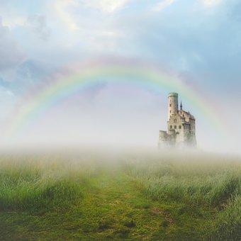 Digital Background, Landscape, Castle, Fantasy, Summer