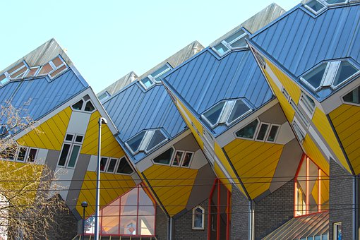 Cube Houses, Building, Roof, Facade, Architecture